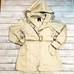 J Crew P2 Hooded Trench Coat Jacket